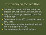 the colony on the red river31