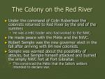 the colony on the red river32