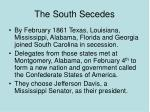 the south secedes66