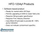 hfo 1234yf products