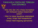 pancasila ideologi terbuka dan dinamis