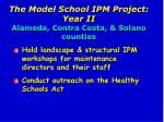 the model school ipm project year ii alameda contra costa solano counties