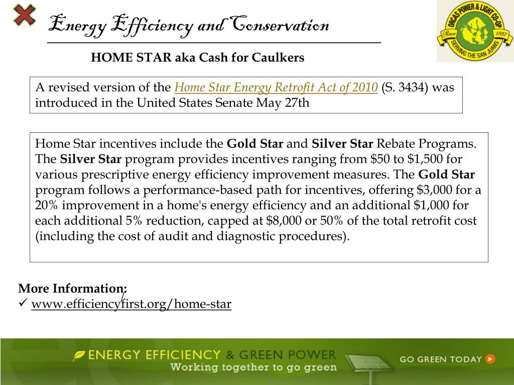 Energy Efficiency and Conservation