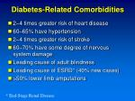 diabetes related comorbidities