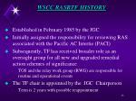 wscc rasrtf history