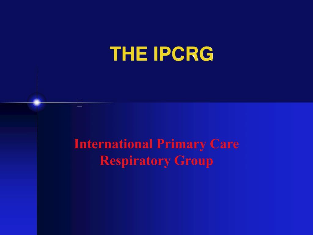 the ipcrg l.