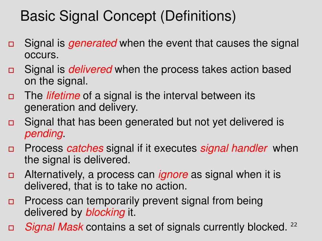 Basic Signal Concept (Definitions)