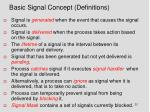 basic signal concept definitions