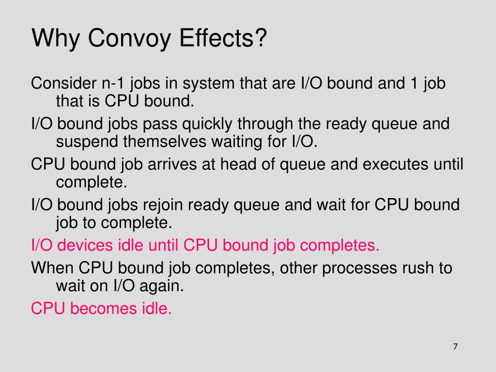 Why Convoy Effects?