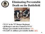 eliminating preventable death on the battlefield