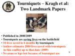 tourniquets kragh et al two landmark papers