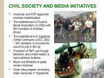 civil society and media initiatives