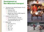 development of non motorized transport