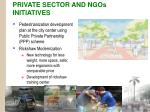 private sector and ngos initiatives