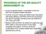 progress of the air quality management 2