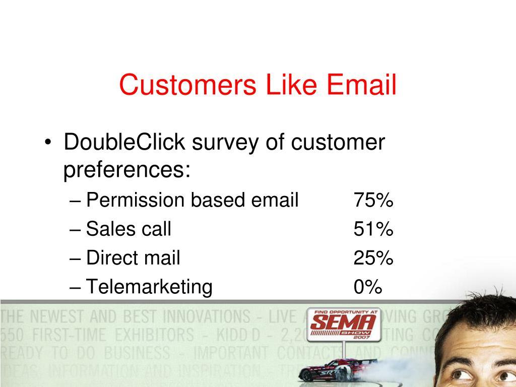Customers Like Email