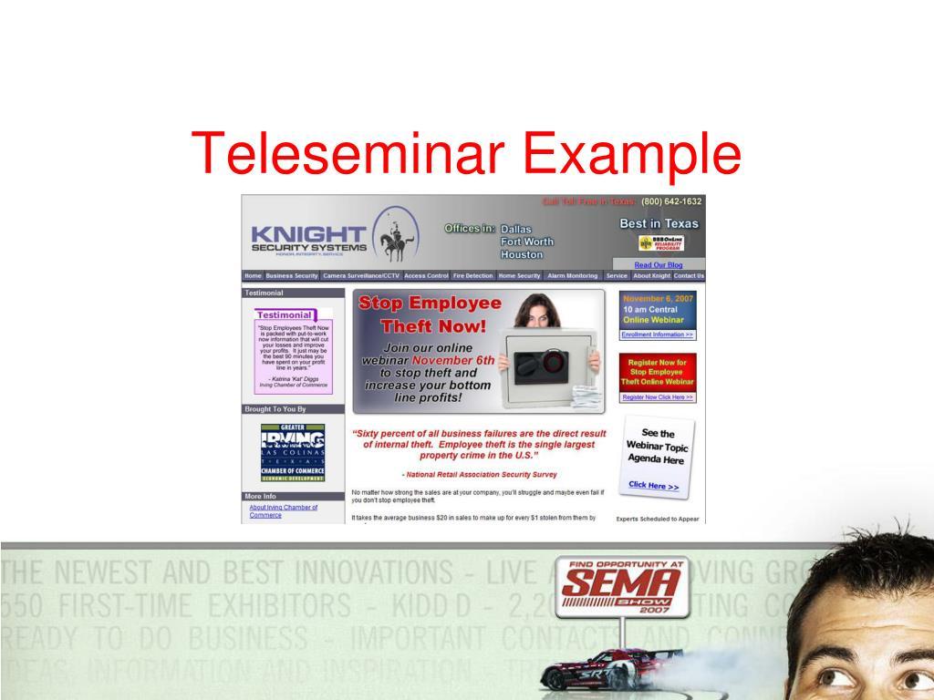 Teleseminar Example