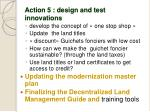 action 5 design and test innovations