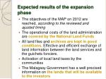 expected results of the expansion phase