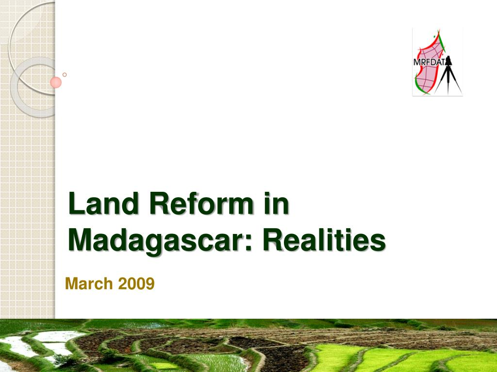 land reform in madagascar r ealities l.