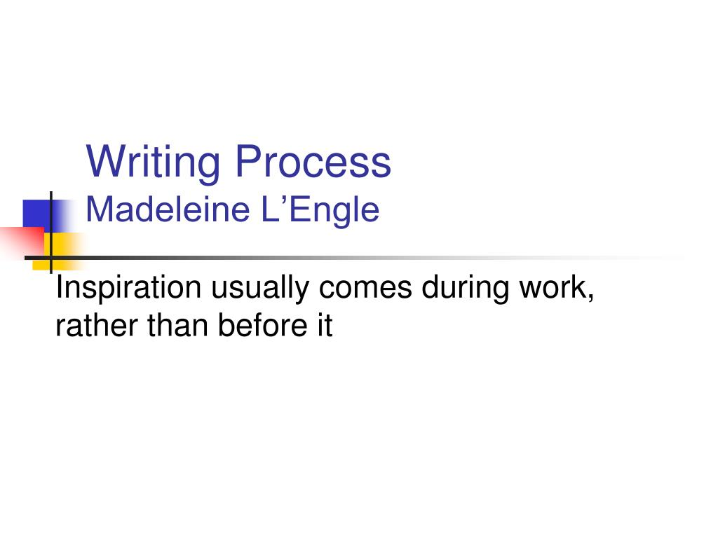 writing process madeleine l engle l.