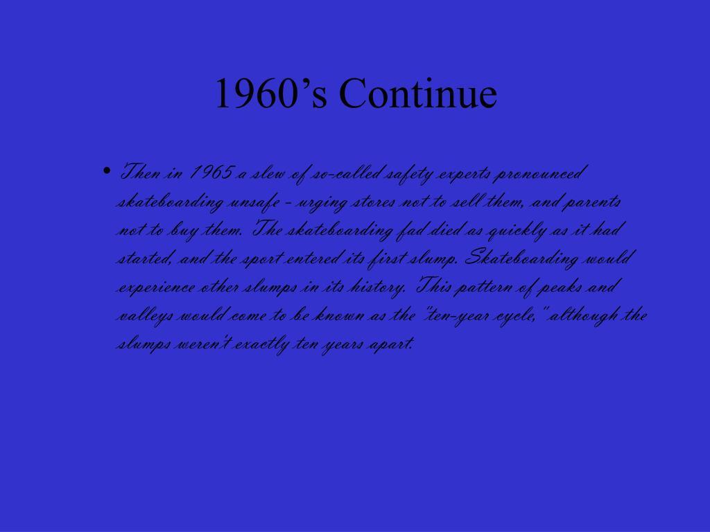 1960's Continue