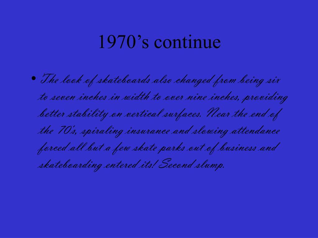 1970's continue