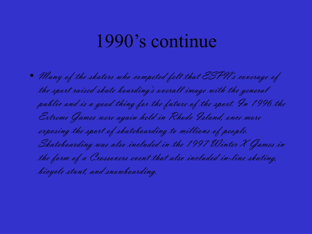 1990's continue