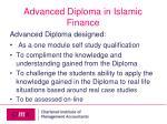 advanced diploma in islamic finance