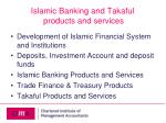 islamic banking and takaful products and services