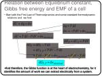 relation between equilibrium constant gibbs free energy and emf of a cell7