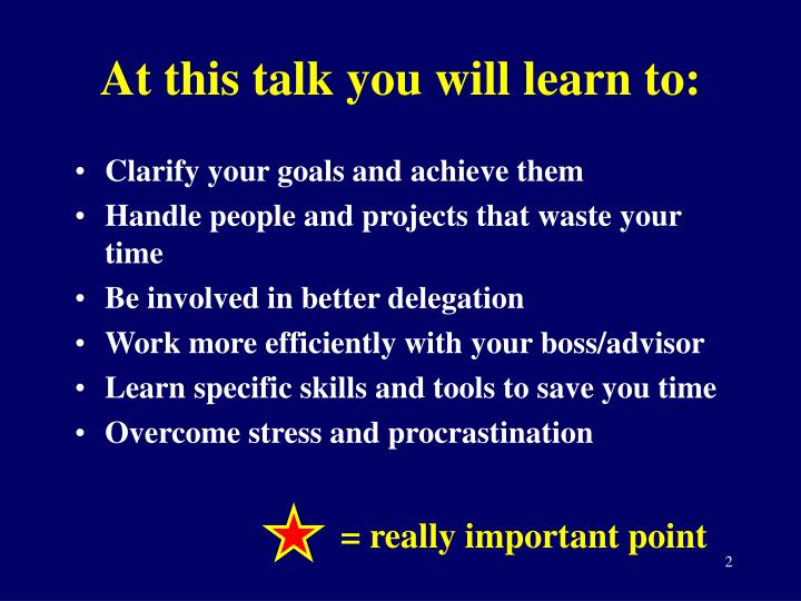 At this talk you will learn to