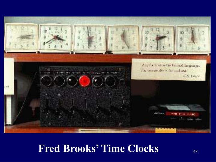 Fred Brooks' Time Clocks