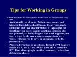 tips for working in groups4