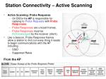 station connectivity active scanning26