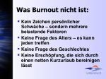 was burnout nicht ist