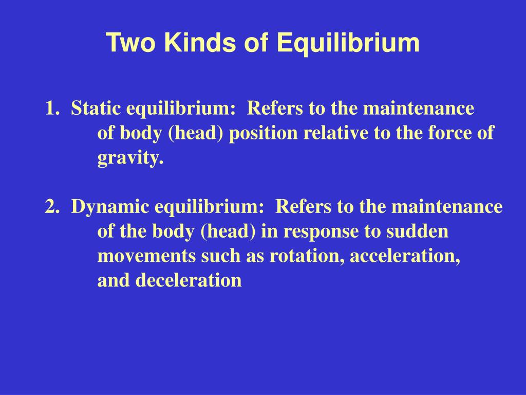 two kinds of equilibrium l.