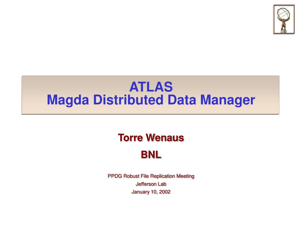 atlas magda distributed data manager l.