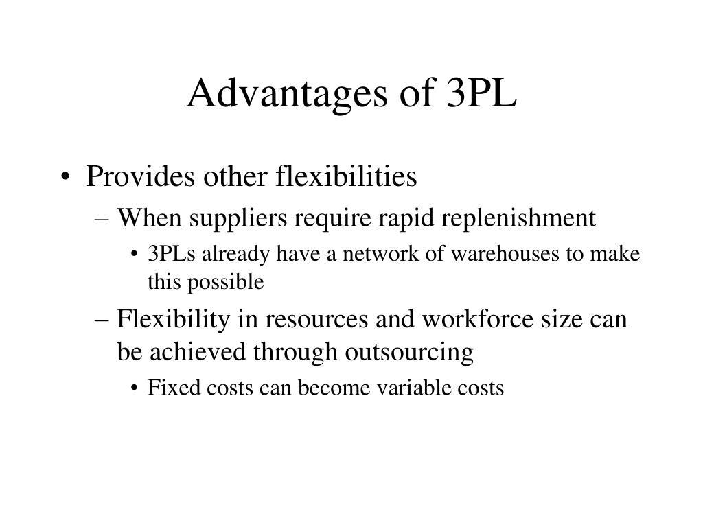 Advantages of 3PL