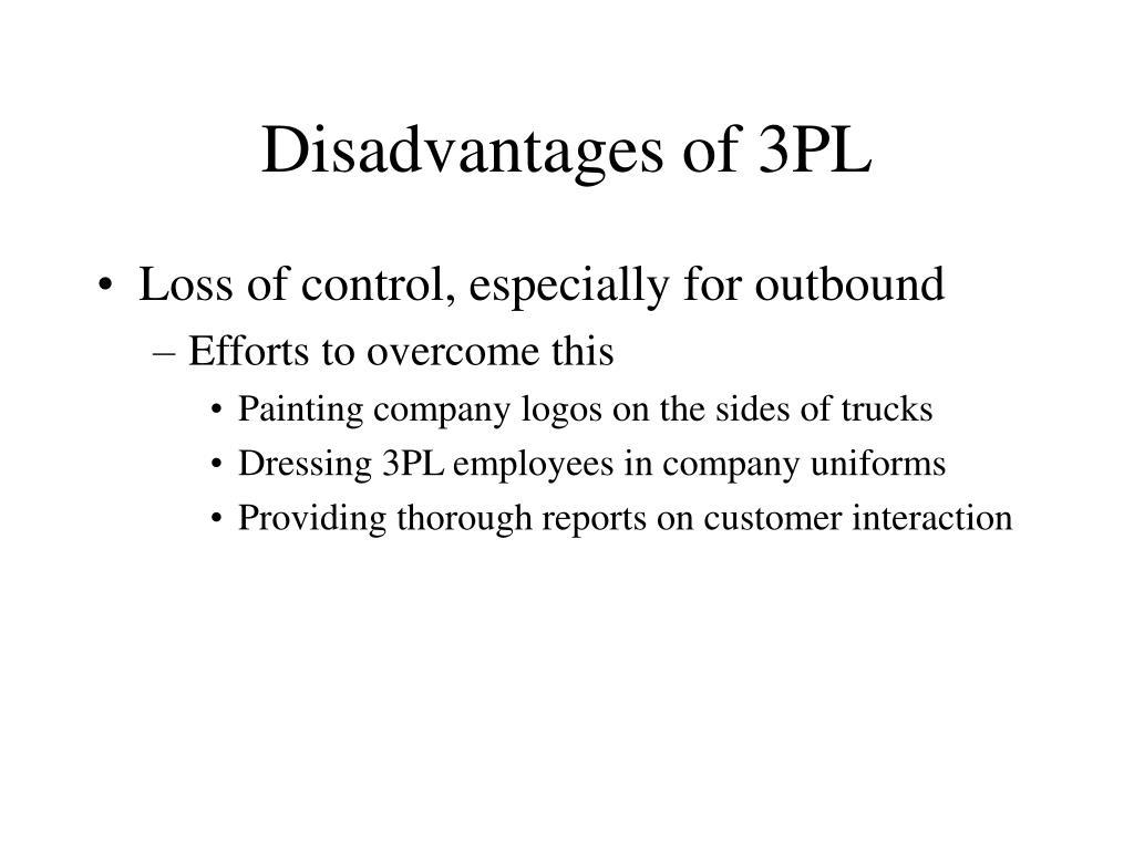 Disadvantages of 3PL