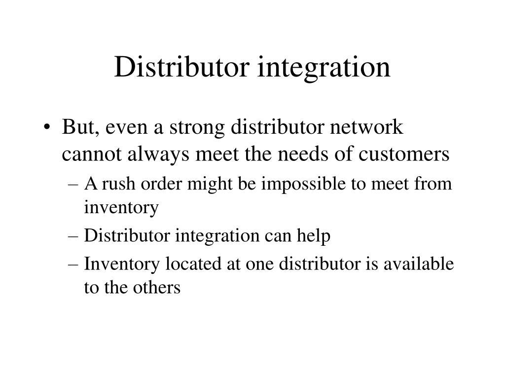 Distributor integration