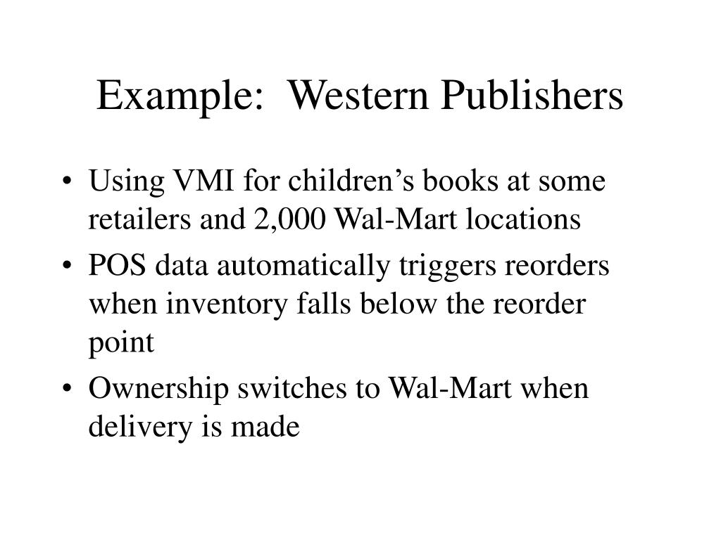 Example:  Western Publishers