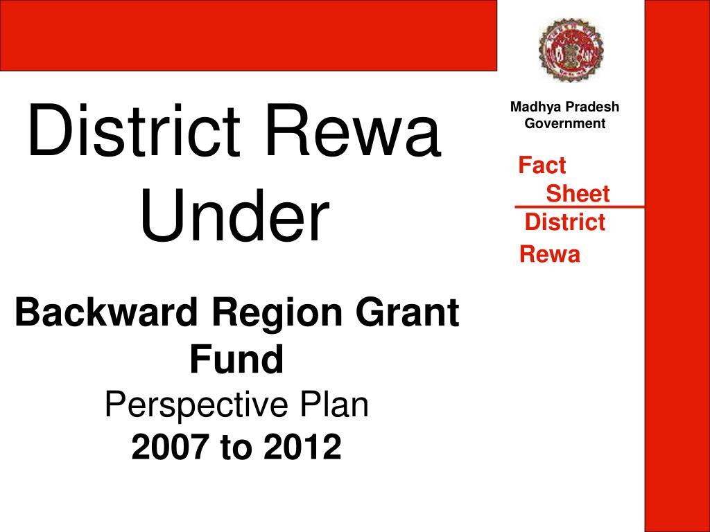 district rewa under l.