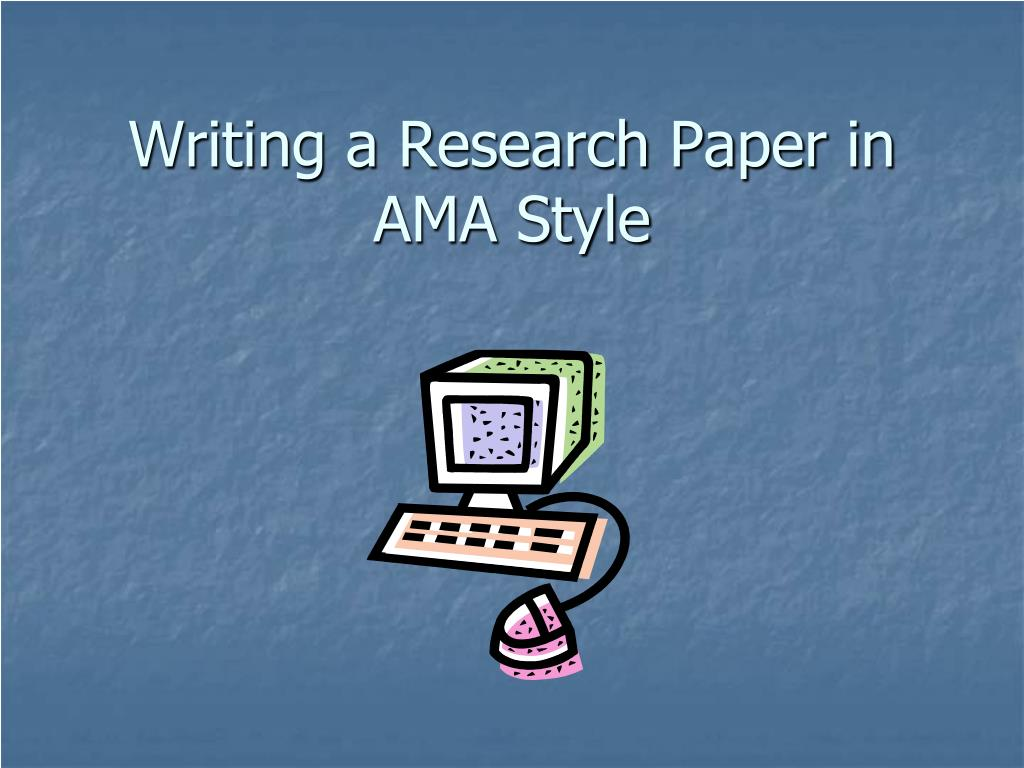 writing a research paper in ama style l.