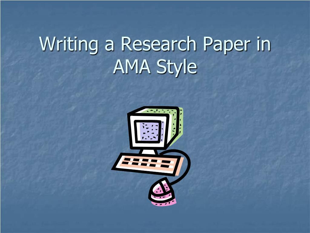 ama writing format