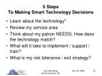 5 steps to making smart technology decisions