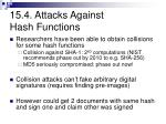 15 4 attacks against hash functions