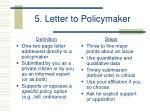 5 letter to policymaker