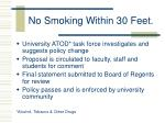 no smoking within 30 feet