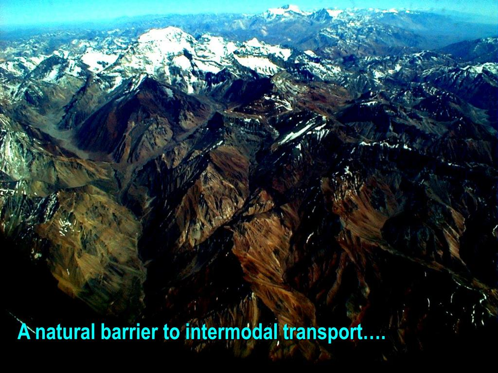 A natural barrier to intermodal transport….